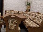 Кухонный угловой диван, стол, стулья (румыния)
