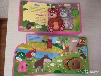 Мягкие книжки с пазлами для малышей,350 руб за 2, Состояние: Б/у в Астрахани
