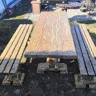Стол и лавки для бани и сада