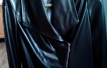 Женский пиджак из искусственной кожи