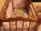 Детская кроватка-маятник матрас