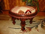 """Пуфик обитый тканью Обитый тканью, цв. """"красное дерево"""", высота 37 см, диаметр 5"""