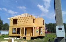 Строительcтво домов коттеджей из сип панелей