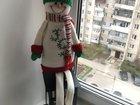 Новогодняя игрушка под елку и декора. «снеговик»