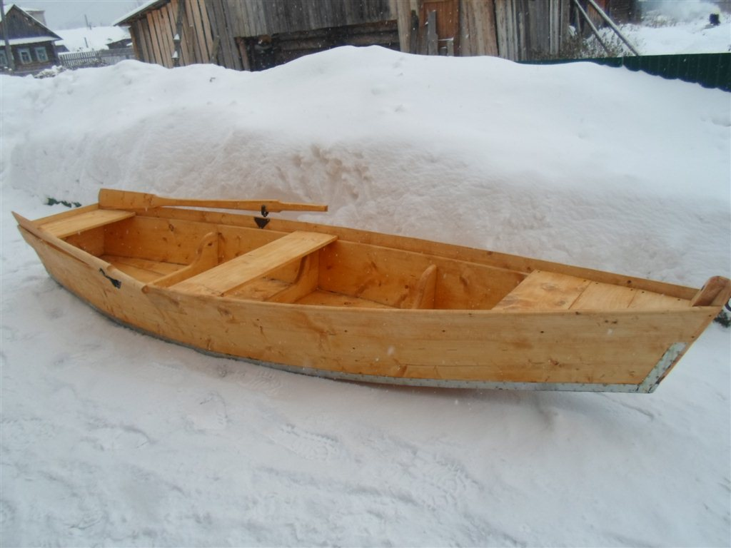 лодки из дерева создали