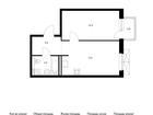 Продаётся 1-комн. квартира площадью 41,4 кв.м на 2 этаже 25