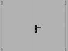 Фотография в Строительство и ремонт Двери, окна, балконы Продаётся двустворчатая металлическая дверь в Ельце 15000
