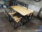 Продам стол и стулья в стиле Loft