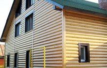Отделка фасада дома сайдингом и блокхаусом