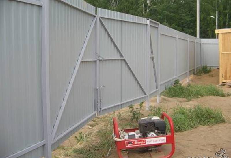 Ворота в заборе для машины своими руками 50