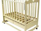 Скачать foto  Детская кроватка-качалка на колесиках + ортопедический матрас + кронштейн для балдахина 35051376 в Казани
