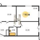 Последняя 3комнатная видовая квартира в сдавшемся доме ЖК Па