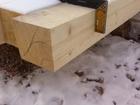 Фото в Строительство и ремонт Строительные материалы Брус (естественной влажности) применяется в Кемерово 5800