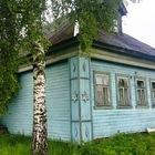 Одноэтажный брусовой дом в деревне