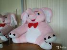 Розовый слоненок (60 см)