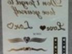 Свежее фото Косметические услуги Золотая тату наклейкаGold body tattoo 33716037 в Комсомольске-на-Амуре