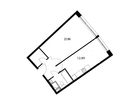 Продается 1-комн. кв-ра площадью 44,61 кв.м на 12 этаже 17 э