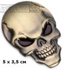 Череп 3x5см (цвет золото)