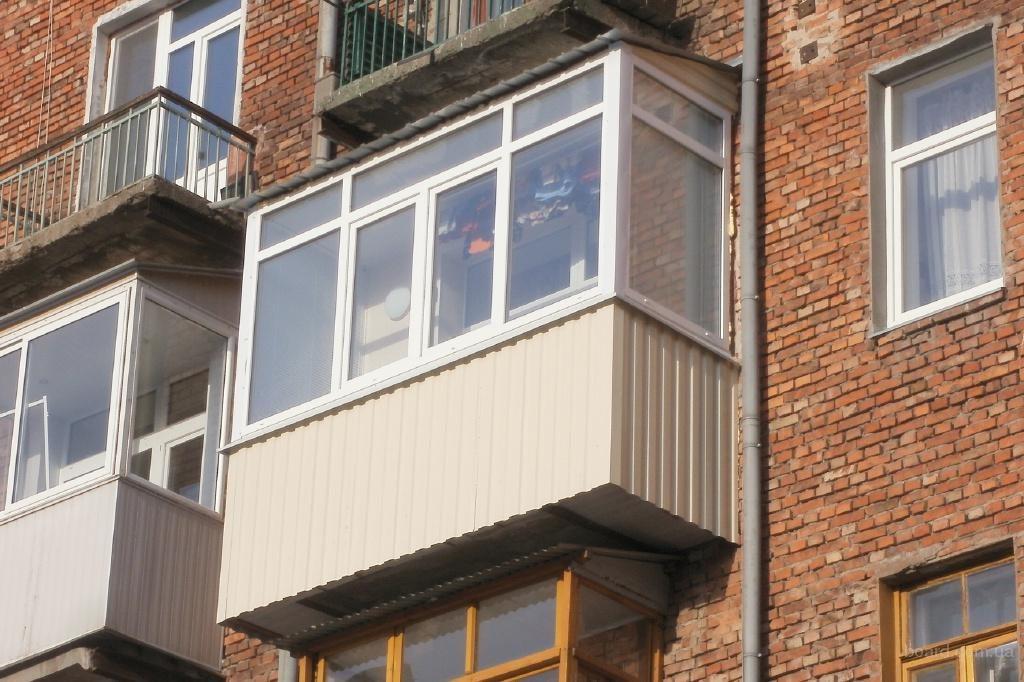 Отделка балкона профлистом. - дизайнерские решения - каталог.