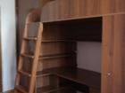 Скачать фото Мебель для детей Кровать-чердак с письменным столом внизу и полками 36964195 в Краснодаре