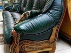 Продам диван кожаный 4х-местный новый