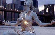 Креативная скульптура Расширение с внутренней подсветкой