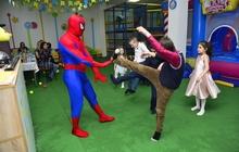 Человек паук,спайдермен на детском празднике