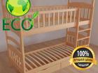 Скачать фотографию  Двухъярусная кровать из Ольхи - Карина СП, от производителя 37783921 в Кургане