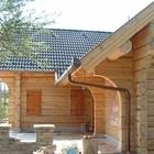 Дома бани из бревна оцилиндрованного и рубленного