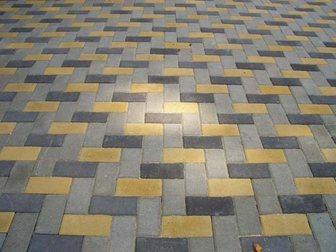 Смотреть foto Строительные материалы Тротуарная плитка Брусчатка(кирпичик)вибропрессованная 34022911 в Кургане