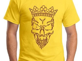 Новое фото  Дизайнерские футболки и иной текстиль с аппликацией стразами и металлом (заклепками) 39331778 в Москве