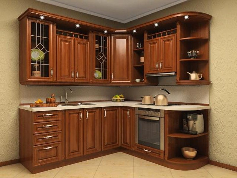 Кухонная мебель угловая фото