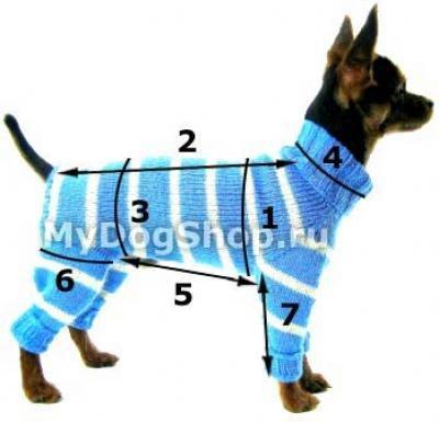 Выкройки вязаной одежды для собак мелких пород