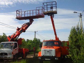 Скачать бесплатно фотографию Транспорт, грузоперевозки Аренда автовышки 12-28 м большая люлька-балкон 32990337 в Москве