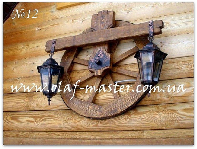 Деревянный светильник под старину своими руками