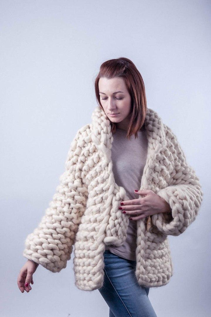 Модное вязание из толстой пряжи 17