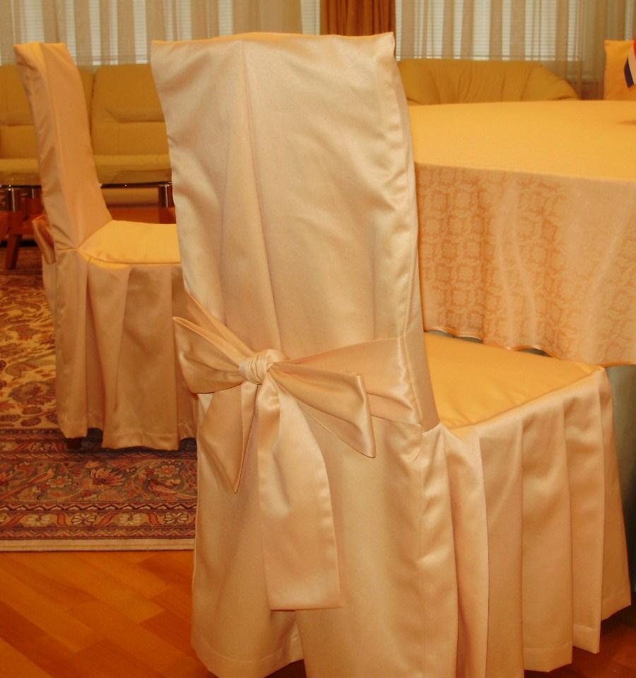 Сшить праздничные чехлы на стулья 49