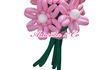 Корзина с цветами из воздушных шаров или