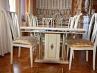 Новое фотографию Мебель для гостиной Обеденная группа фабрики Turri Kristal стол 210х100см, и 8 стульев 38635543 в Москве