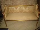 Скачать бесплатно foto Мягкая мебель Банкетка диванчик в золотой фольге отделка Angelo Cappelini 120х50см 38729084 в Москве