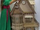 Просмотреть фото  Новый, Эксклюзивный кукольный дом для Барби с подсветкой+мебель, 39008571 в Москве