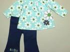 Новое изображение Детская одежда Туника/платье и брюки 12 мес хлопок рис ромашки 40636418 в Москве