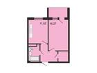 Продается 1-комн. кв-ра площадью 39,29 кв.м на 2 этаже 3 эта