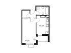 Продается 1-комн. кв-ра площадью 39,66 кв.м на 12 этаже 12 э