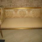 Банкетка диванчик в золотой фольге отделка Angelo Cappelini 120х50см