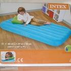 Надувная кровать -матрас детская зеленая с подушкой 88х157х18 см