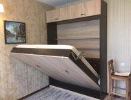 Шкаф-кровать трансформер Шкаф-кровать вертикальная 1400 х 1900 х 50, цвет- венге