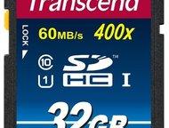 Карта памяти Transcend TS32GSDHC10 Карта памяти, предназначена для долговременно