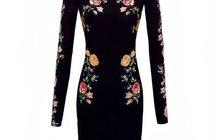 Платье Victoria Beckham 3D Roses Dress