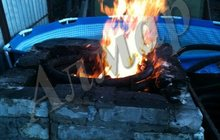 Спиральный дровяной водонагреватель для бассейна